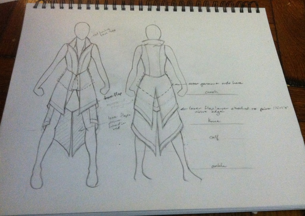 ezio costume sketch