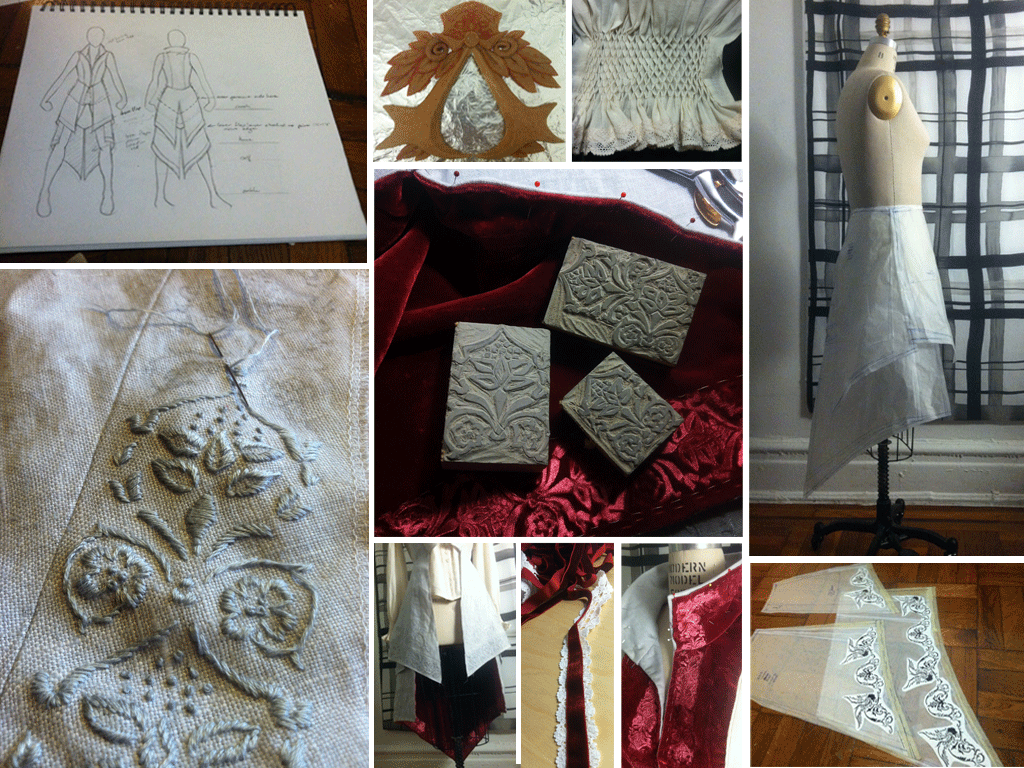 Ezio cosplay build collage
