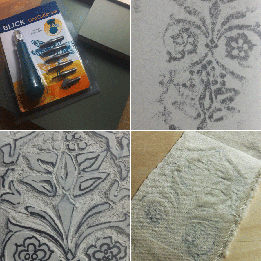 carving blocks to emboss velvet