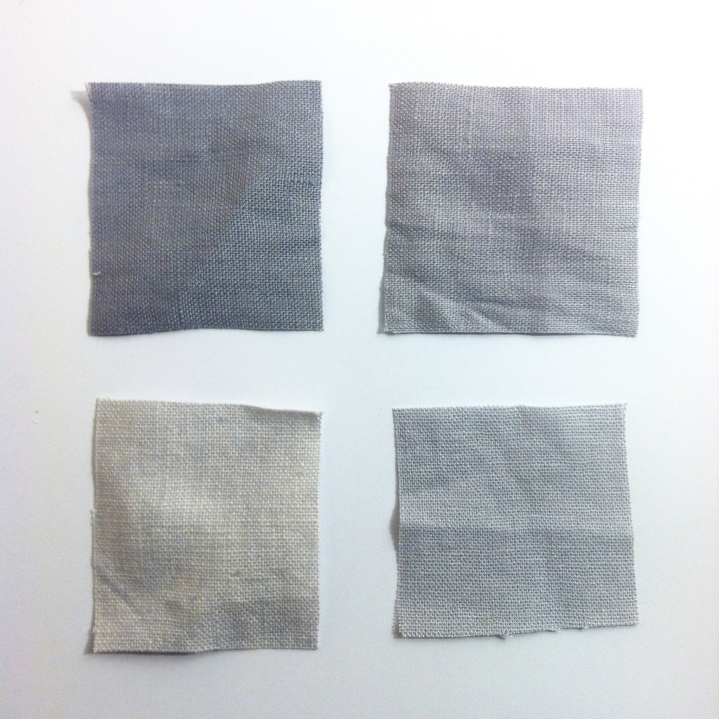 gray linen swatches
