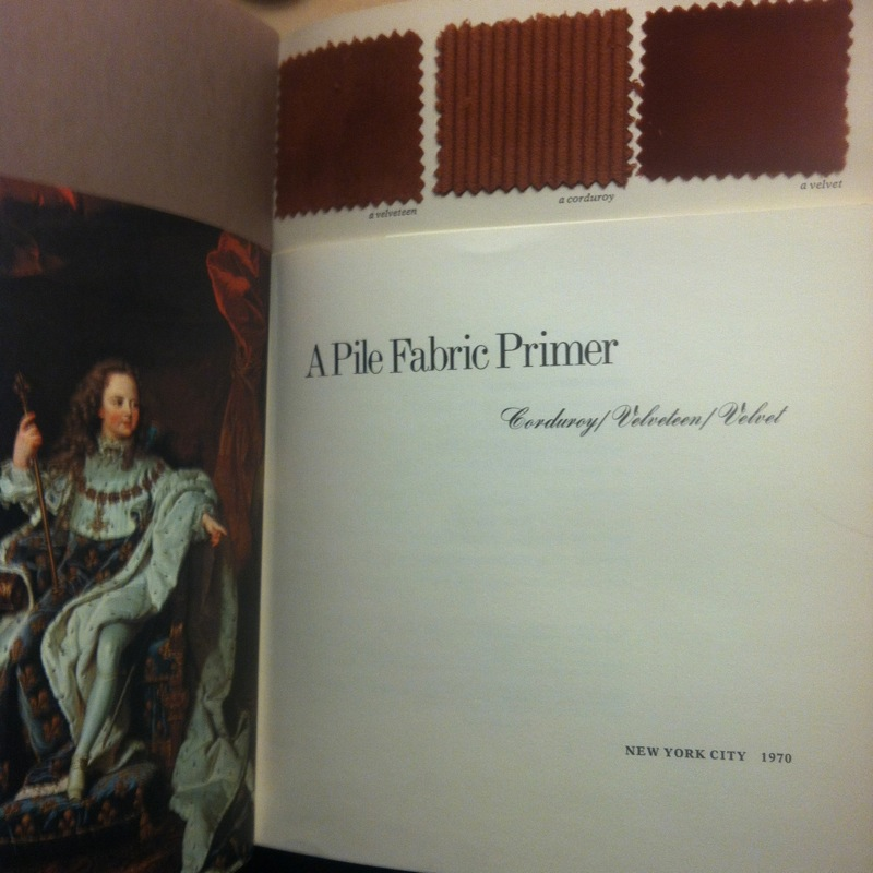 pile fabric primer title page