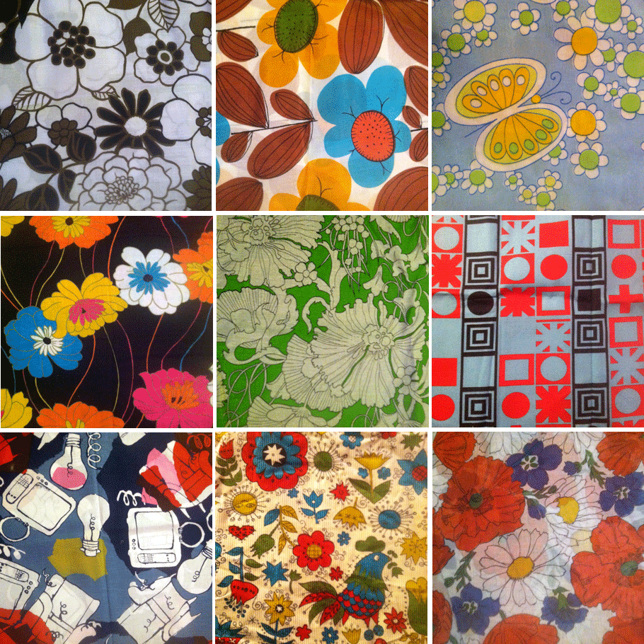 vintage fabric collage 1