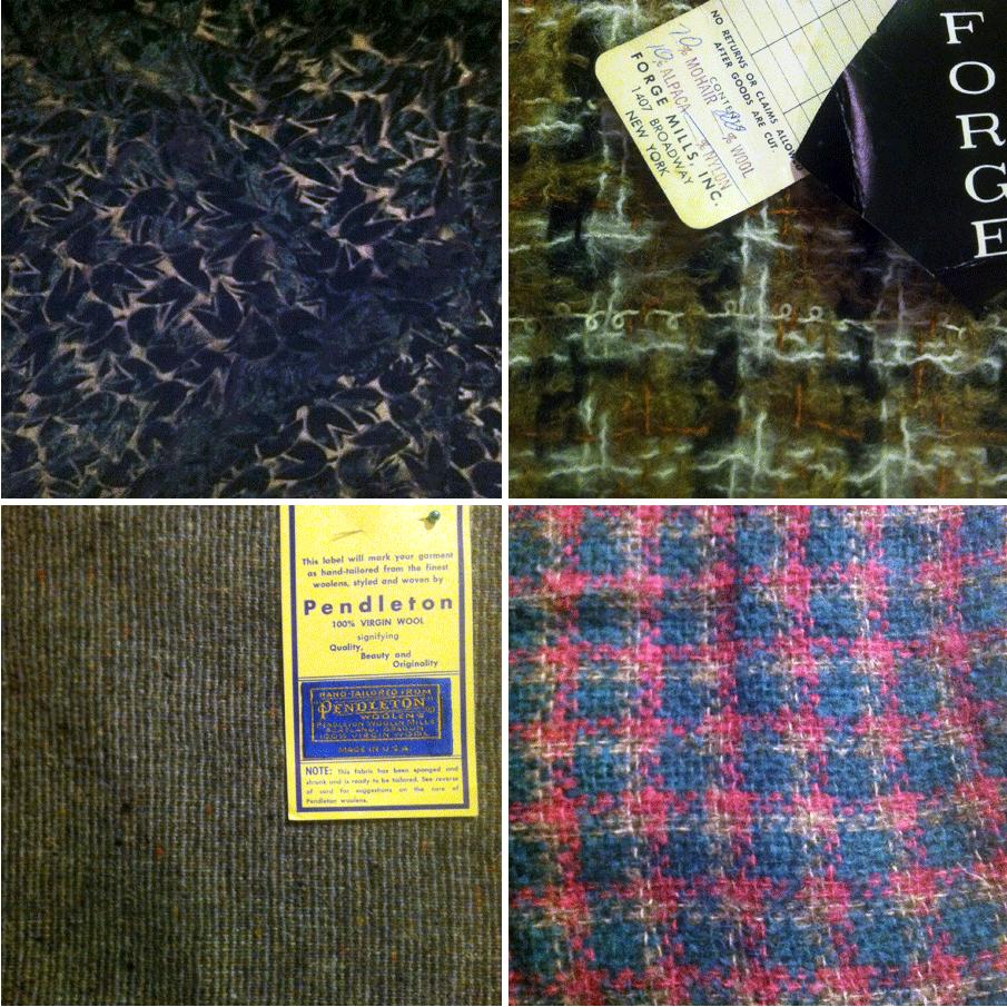 velvet, wool, mohair