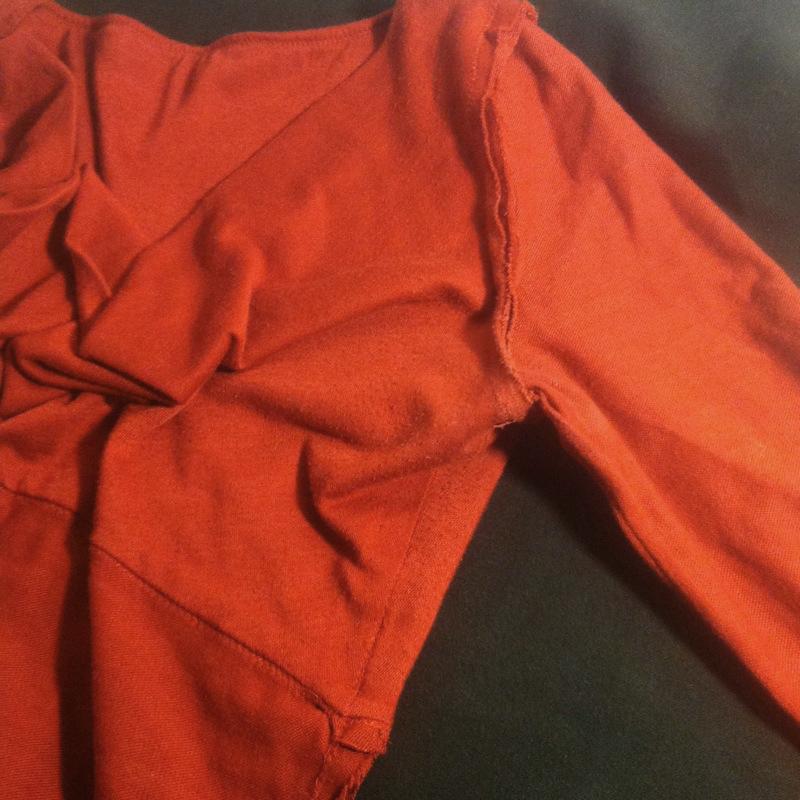 plain seamed knit top