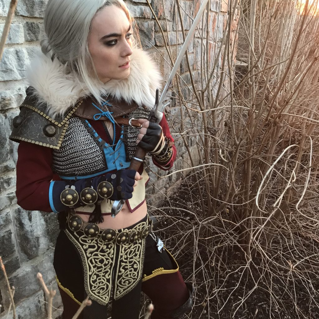 Ciri alternate DLC outfit from The Witcher 3 - Wild Hunt, cosplay made and worn by Gillian Conahan