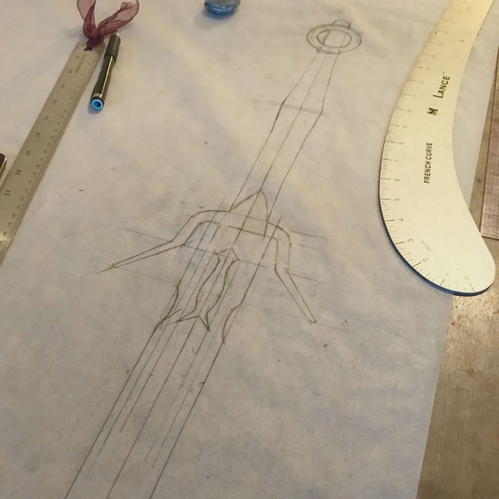 plan sketch for ciri sword