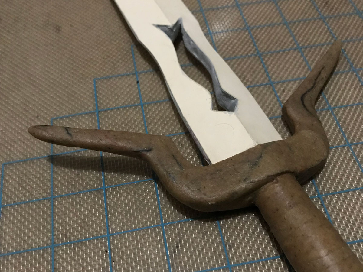 sculpted worbla sword hilt