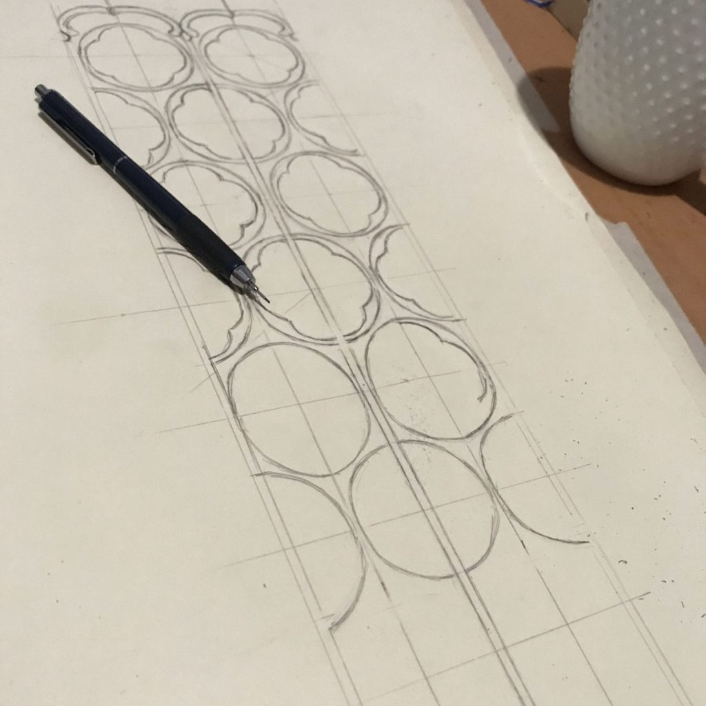 drawing the scabbard tooling pattern