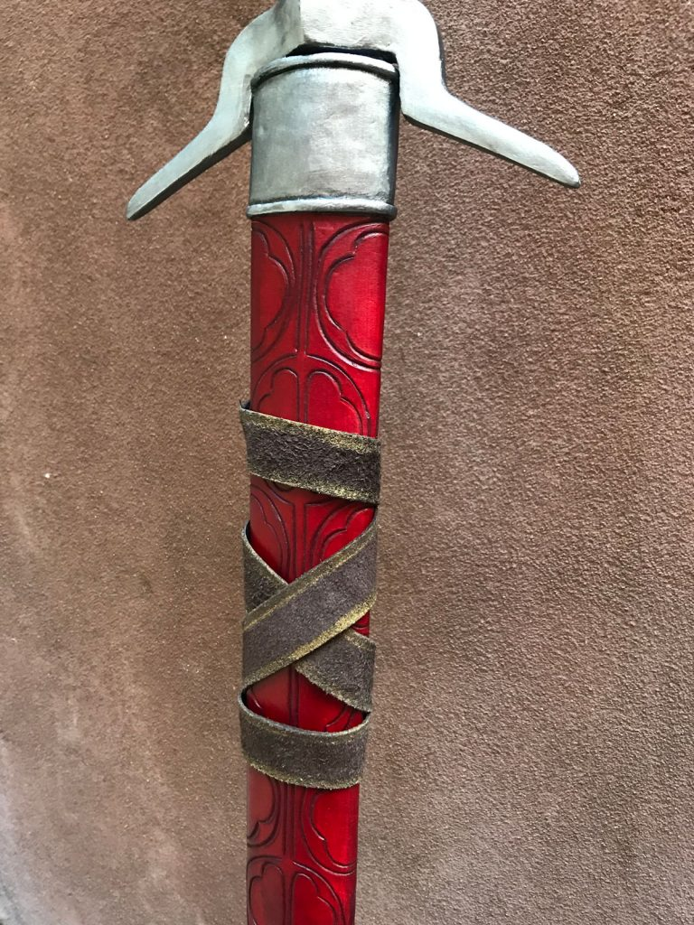 detail of finished scabbard