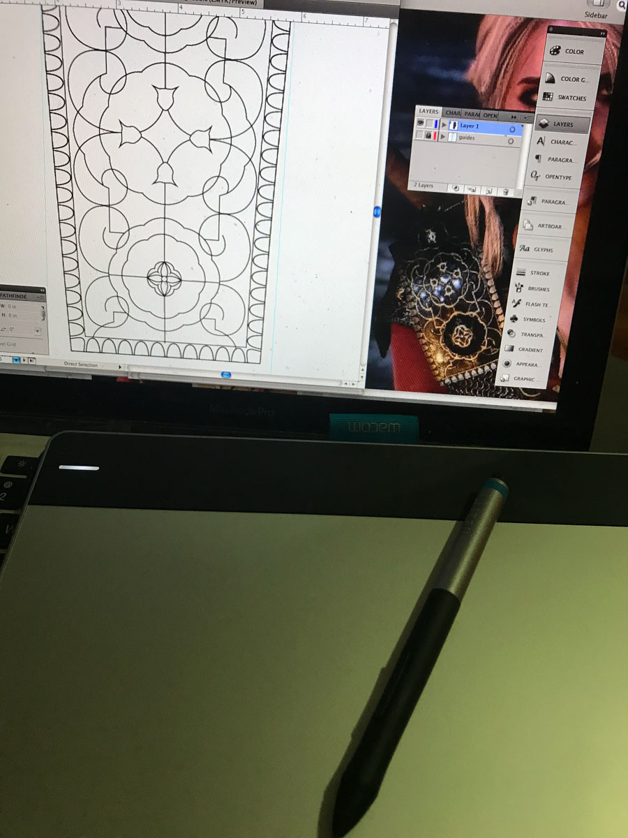 planning the pauldron detailing in illustrator