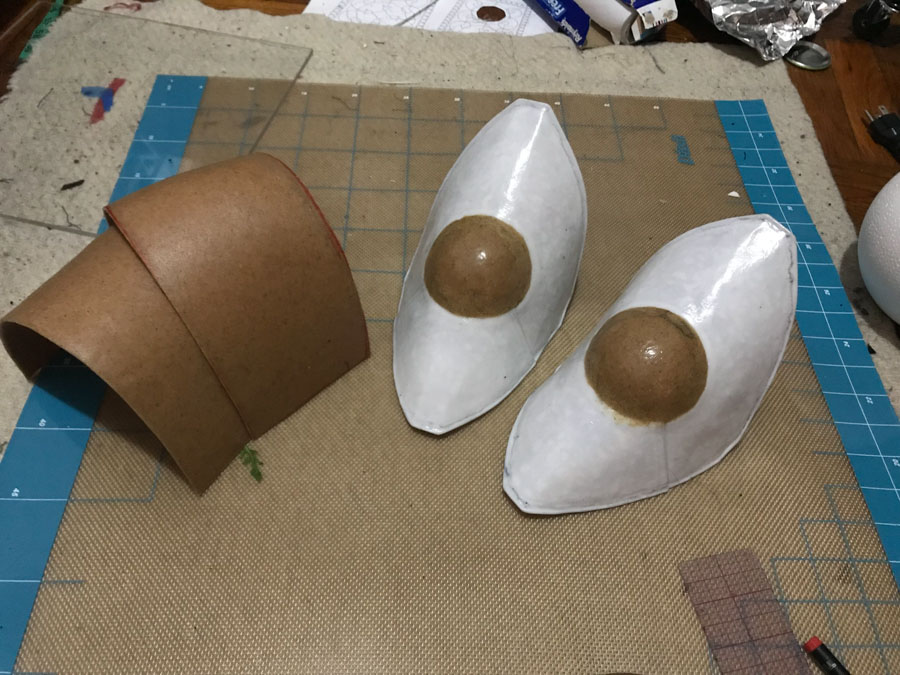 pauldron and poleyns base pieces