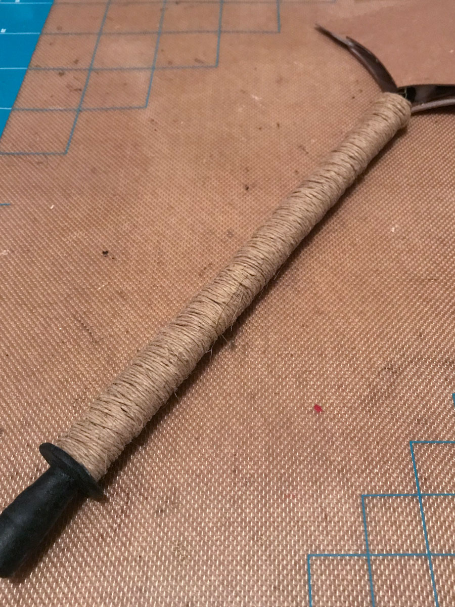 twine wrapped prop sword hilt